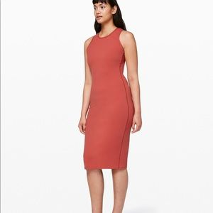 NWOT Lululemon Picnic Play Dress Brick Rose Sz 10